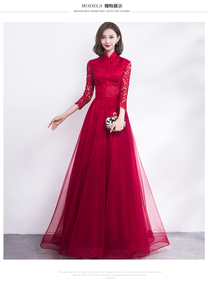 2019 Traditional Chinese Wedding Gown Cheongsam Long Qipao Bride Traditions Classic Women Dress Oriental Dresses Vestido Novia From Priscille 139 83