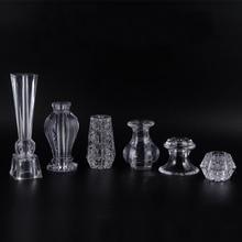 4Pcs Acrylic Crystal cabinet Glass Tea TV Cabinet Feet Coffee Table Support Legs Furniture feet