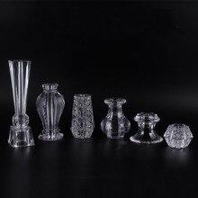 Meuble en cristal en acrylique, 4 pièces, verre, meuble à thé, pieds de Table basse, Support pieds