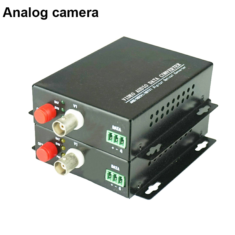 20KM Fiber Video Optical single fiber single-mode fiber optic converter FC transmitter receiver 1ch rs485 data digital video optical converter fiber optic video optical transmitter and receiver multiplexer