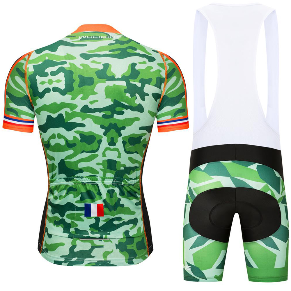 b84d0350609 WULIBIKE CAMOUFLAGE CYCLING JERSEY DISRUPTIVE PATTERN FRANCE FLAG JERSEY KIT  FOR ARMEE DE TERRE FANS ARMY GREEN NAVY BLUE-in Cycling Sets from Sports ...