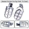 Motorcycle Accessories Foot Rests Foot Pegs Pedals Aluminum For Suzuki RM85 Suzuki DRZ/KLX 125