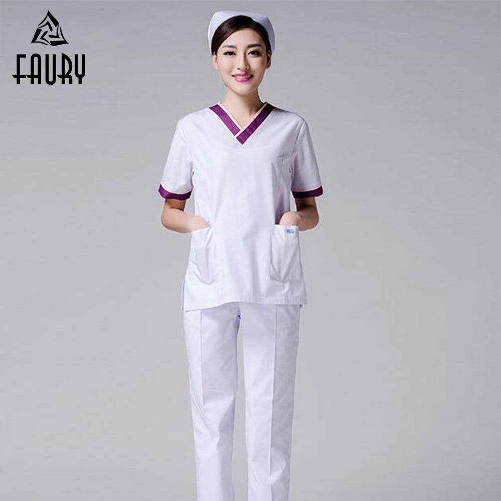 Medical Uniforms Doctor Nurse Uniform Scrub Set Medical Clothes Dental Hospital Beauty Salon Women Work Wear Clothes