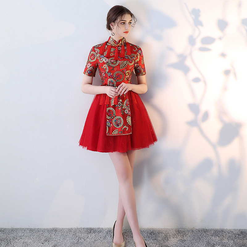 Celebrity Dresses Embroidery Dress Elegent New Vintage vestido de ... e8fc45f9bd34
