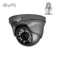 Kingkonghome poe IP Camera 4mp Audio Security camera 1080p Outdoor metal CCTV surveillance Microphone indoor Dome ip cam onvif