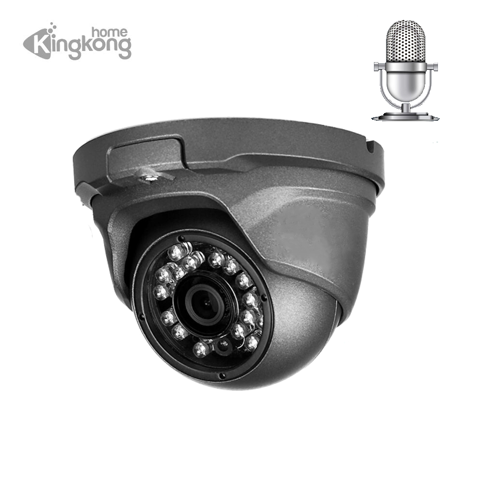 Kingkonghome poe IP Camera 4mp Audio Security camera 1080p Outdoor metal CCTV surveillance Microphone indoor Dome ip cam onvif