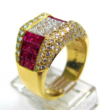 Fashion Punk Red Cubic Zirconia Rings For Women Party Full Cz Cocktail Ring Luxury Jewelry