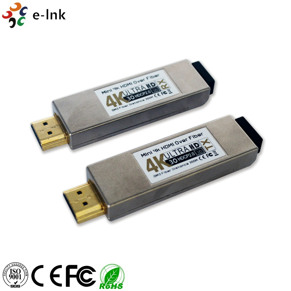 Mini 4Kx2K HDMI Over Optik Fiber Alıcı-verici 4 K HDMI Fiber Optik Genişletici