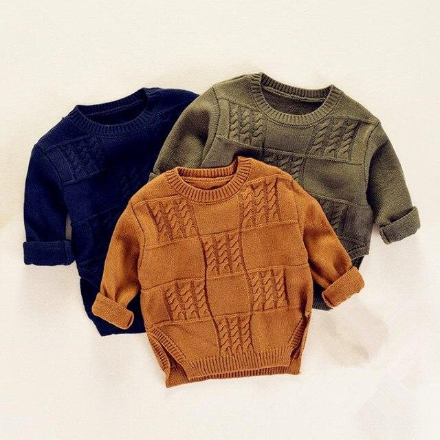 a00ec431e DFXD Children Sweaters Autumn Winter New Design Long Sleeve Soild ...