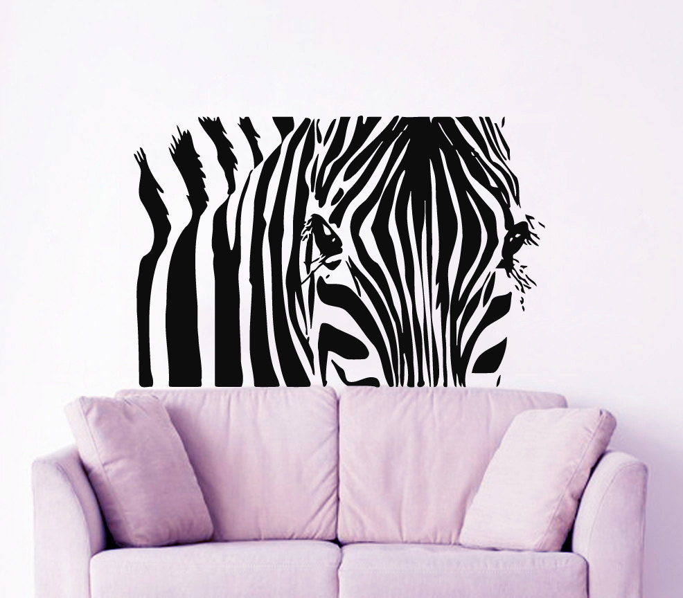 Small Part Og Zebra Pattern Silhouette Wall Stickers Art Designed