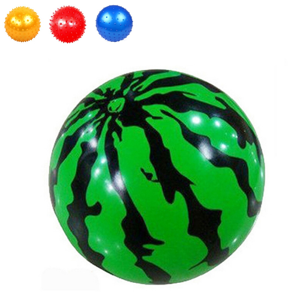 1PC 23CM Toy Balls Beach Swimming Pool Inflatable Balloon for Kids Toy Gift Plastic Watermelon Balls Funny Stress Ball
