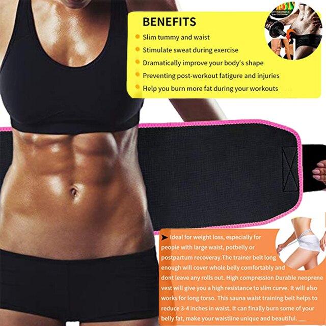 Maternity Postpartum Belly Belt Neoprene Super Sweat Waist Trainer Nipper Slimming Corset Sauna Effect Body Shaper Band Women 2
