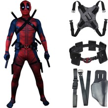 Deadpool Costume Accessories Belt Waist Bags Back Strap Holster Cosplay Bodysuit prop Kids Adult(China)