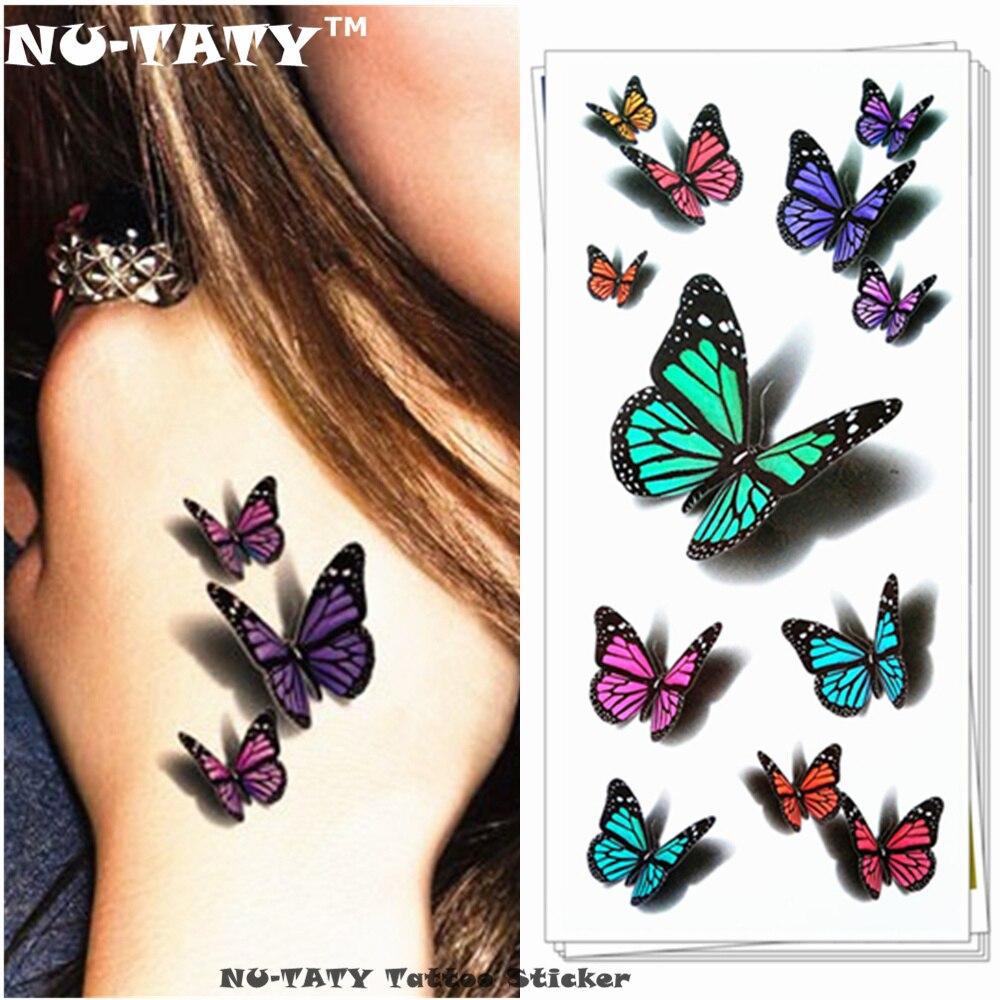 Набор бабочек 3D на магните(двойном скотче )12 штук. 5 вариантов ... | 1000x1000