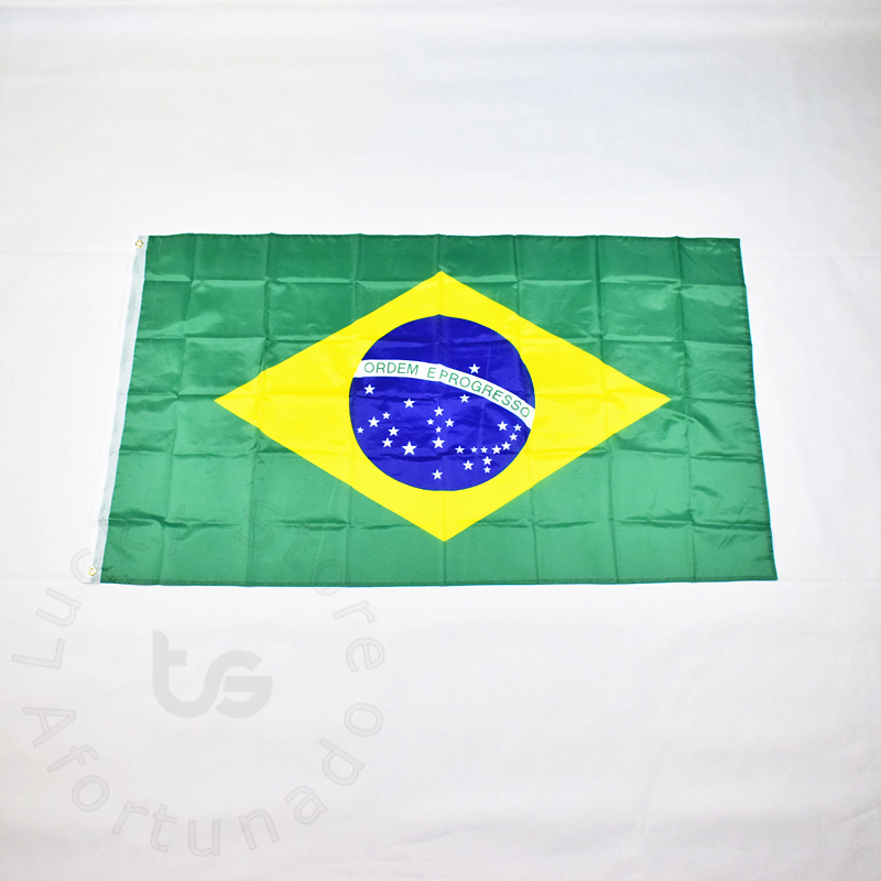 Brazil 90 * 150cm flag Banner Hanging Národní vlajka pro setkávání, Parade, party.Hanging, dekorace