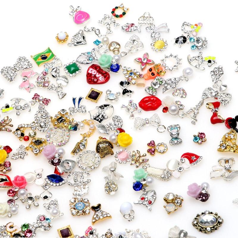 20Pcs Random Metal Alloy 3D Nail Art Decorations Rhinestones for Nails Bonzer Nail Jewelry Gem Stickers Manicure Beauty Tools аксессуары для косплея random beauty cosplay
