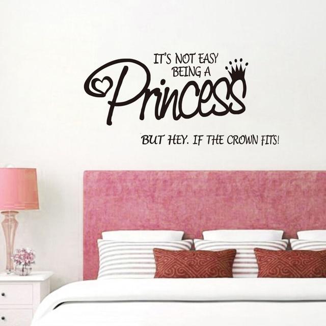 Non e \'Facile Essere Una Principessa Wall Stickers Per Le Ragazze ...