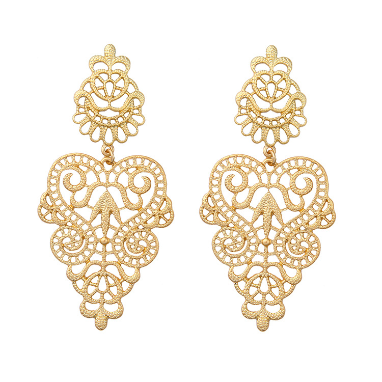 2017 Wholesale hollow out for girls jhumka designs gold earrings ...
