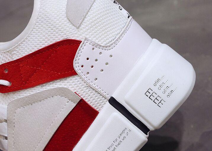 Automne blanc Taille Loisirs forme 2018 Hauteur De 39 10 Hauts Cm Marche Bleu Printemps Femmes 34 Plate Chaussures Air Talons Mesh 5a1wf4z
