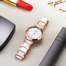 2017 Hot Sale Ceramics Women Watches Top Luxury Brand Rose Gold Waterproof Quartz Wristwatches Fashion Ladies Clock Montre Femme