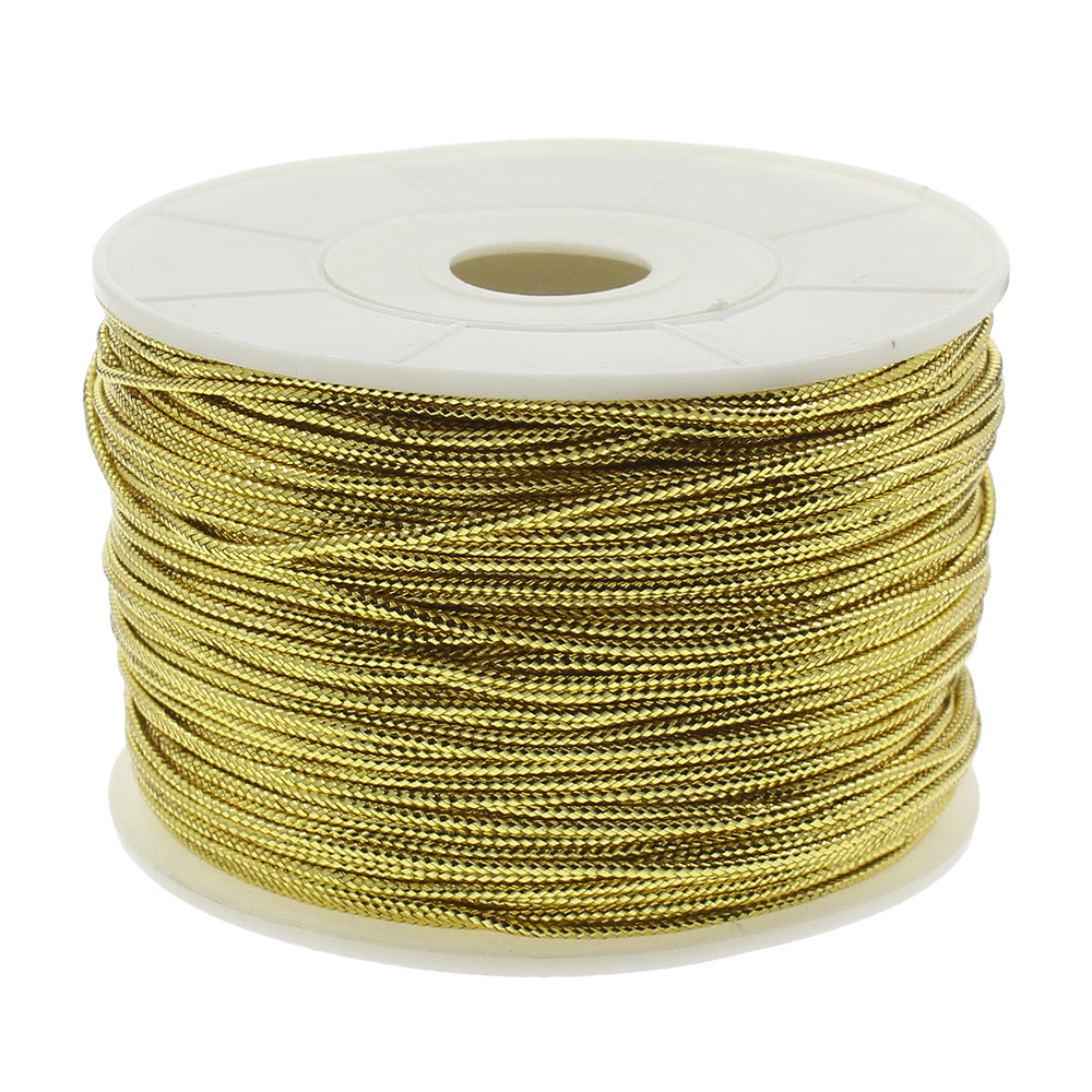 100Yards/Lot 1.5mm Gold Color  Nylon Cord Thread Cord Plastic String Strap DIY Rope Bead Necklace European Bracelet Making