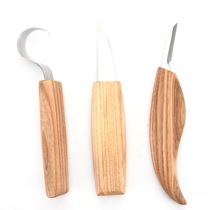 New 3pcs Stainless Steel Woodcarving Cutter High Strength Hooked Whittling Cutter Tool Sets Used for Cutting Wooden Spoons in Chisel from Tools