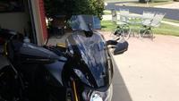 Motorcycle Risen Smoke Windshield Windscreen Bracket Set Screen Protector Adjustable Lockable For BMW Kawasaki Honda Harley