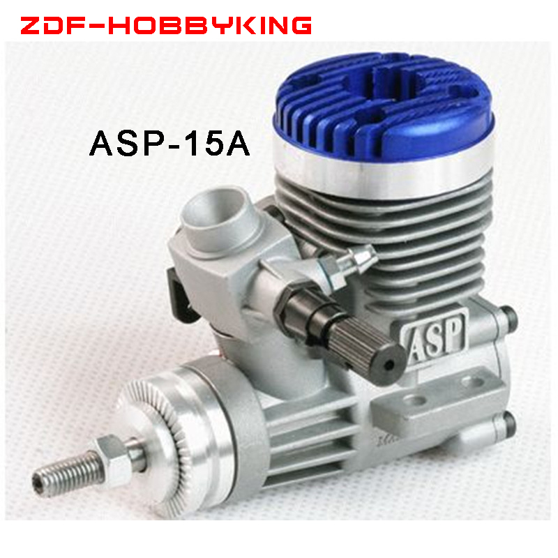 Free shipping ASP Nitro Engine S15A 15A 2.5CC methanol engine Two Stock for airplane Recommend Prop8X4 RPM3000-19000
