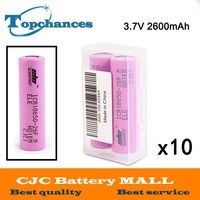 10X 2pcs Lot High Quality 3 7V 2600mAh 18650 Rechargeable Li Ion Battery ICR18650 26F ICR18650