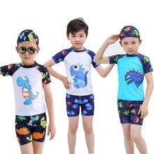 684469d12a435 (Ship from US) MUQGEW Toddler Kids Boy Swimsuit Dinosaur Printed Swimwear  2019 Summer Children Boys Swimsuit Bathing Suit Clothes Set
