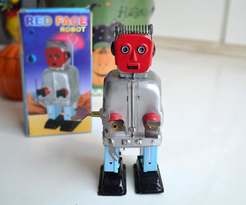 hojalata reloj retro juguetes estao reloj clsico robot reparador rare mainland