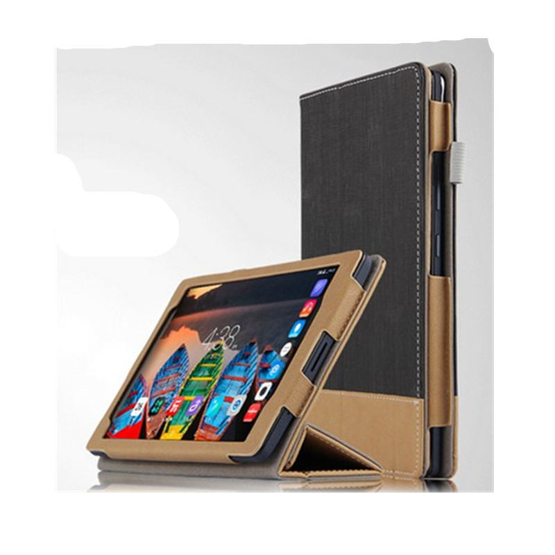 SD Flip PU Leather Book Cover Stand case For Lenovo P8 (TAB3 8 Plus ) 8.0 TB-8703F TB-8703N Tablet PC shell Protective cases