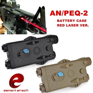 Element Airsoft AN/PEQ-2 Battery Case Red Laser Version Softair 20mm Rail Tactical PEQ Battery Box EX426(China)