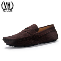 A New Song Snake Male Breathable Leather Casual Shoes Doug Summer Loafer Scrub Sets Foot Pedal