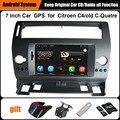 Actualizado Original Juego Reproductor multimedia Del Coche de Navegación GPS Del Coche para Citroen C4 C-quatre C-triomphe WiFi Bluetooth