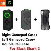 Xiaomi tubarão preto 2 original, estojo de celular com clipe duplo, deslizamento, forma de clipe, controlador de jogo portátil, estojo de conexão em trilho mecânico
