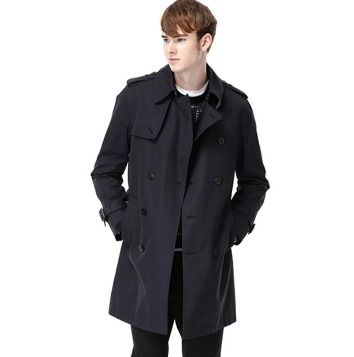 Popular Mens Casual Short Double Breasted Wool Coat Slim-Buy Cheap ...