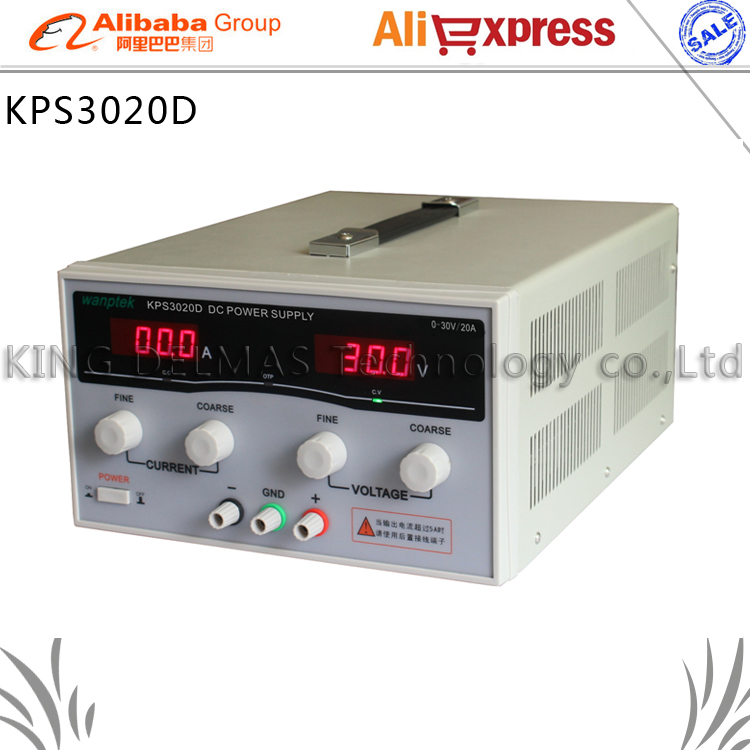 KPS3020D High precision Adjustable LED Dual Display Switching DC power supply 220V EU 30V/20A 0 30v 0 20a output brand new digital adjustable high power switching dc power supply variable 220v