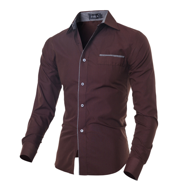 Big sale free shipping 2016 mens slim fit stylish casual for Sale on mens dress shirts
