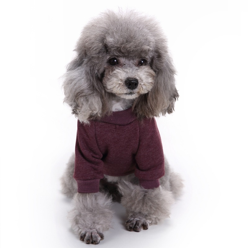 Leisure Pet Dog Clothes Solid Hoodies Woolen Sweater for Small Medium Dogs Cat Soft Coat Jacket Chihuahua Teddy Clothing