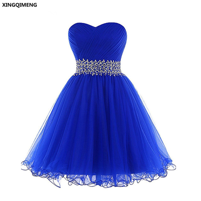 8d64f1d485a Royal Blue Sequined Short Prom Dress Sexy Formal Party Gown Beading Mint  Green Prom Dresses Black Elegant Girl Women Dress
