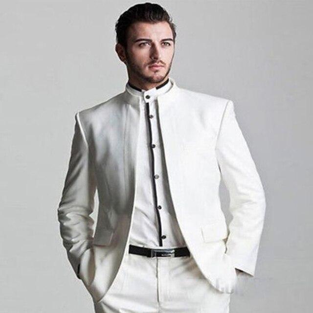Custom Made Белый Groomsmen Лучший Костюм Свадебные Костюмы Жениха Смокинги Деловые Костюмы Куртка Брюки