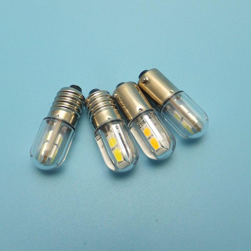 Image 2 - MIDCARS 6V t4w ba9s e10 LED LIndicator light 36V Bulb,H21W BAY9S 12V SMD LEDs/ 48V 24V to 60V Bulb wholesale-in LED Bulbs & Tubes from Lights & Lighting