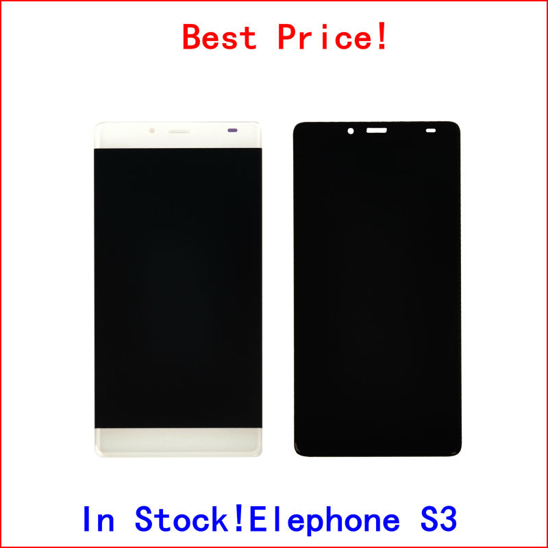 Touch Sensor with LCD For Elephone S3 LCD Display Screen Complete Assembly Black White In stock