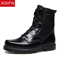 ASIFN Men Military Boots Winter Men's Safety Shoes Europe The United States Leather Male Tooling Casual Wild The Army