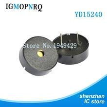 10 pçs/lote passivo piezoelétrico buzzer yd15240 tipo 3-24v 17*7mm novo