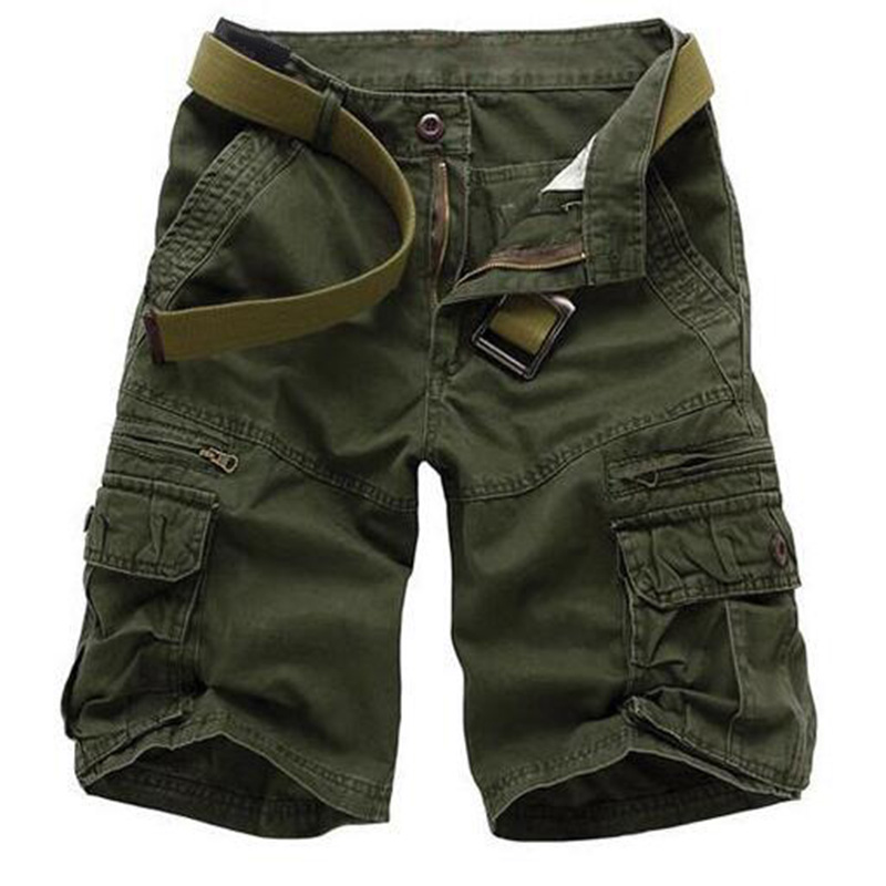 2018 New Shorts Men Summer Hot Sale Work Short Pants Camouflage Military Brand Clothing Fashion Mens Cargo Shorts Plus Size