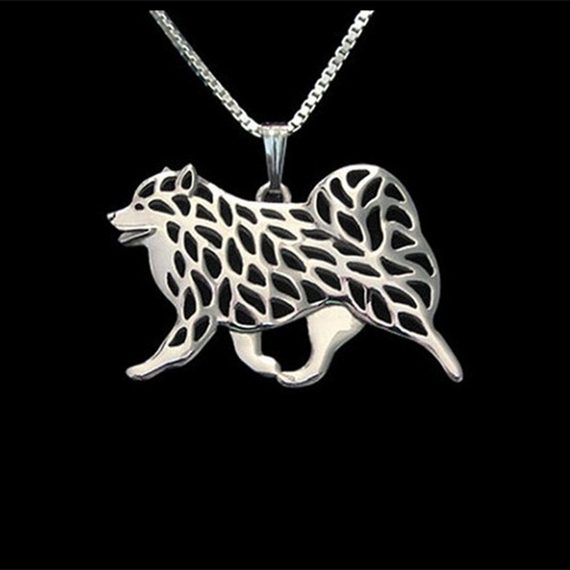 Samoyed Dog necklaces & pendants for women men girls silver/gold - Fashion Jewelry - Photo 1