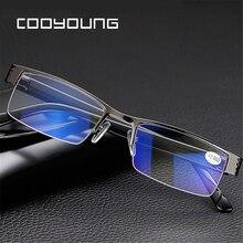 ba395626df227 Homens Mulheres Liga de Titânio Azul Filme de Resina Óculos de Leitura  Óculos de grau + 1.00 1.50 2.00 2.50 3.00 3.50 4.00 Diopt.