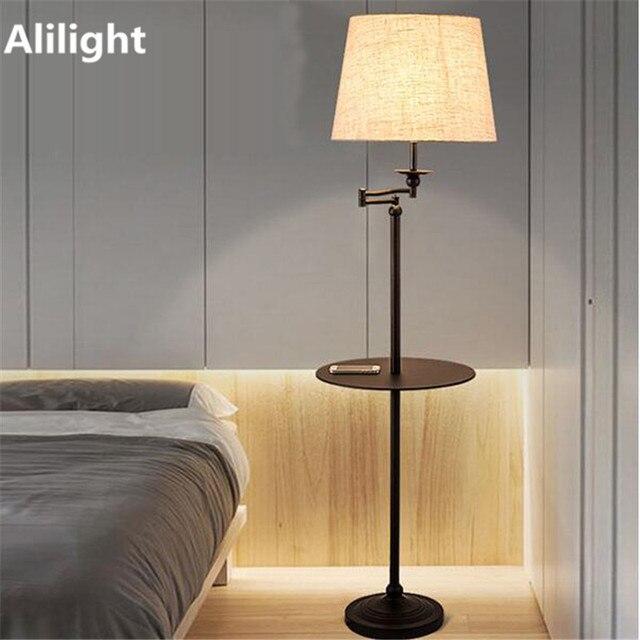 Moderne Led E27 Eisen Stoff Stehlampe Stehlampe Metall Boden